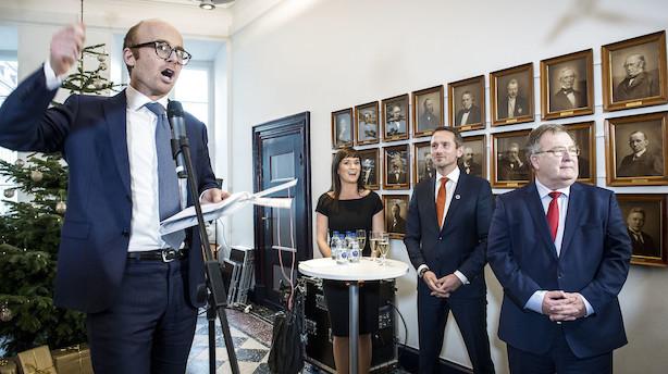 Højre hånd for Corydon, Hjort, Løhde og Jensen: Nu stopper Finansministeriets chef midt i forhandlinger om ny regering