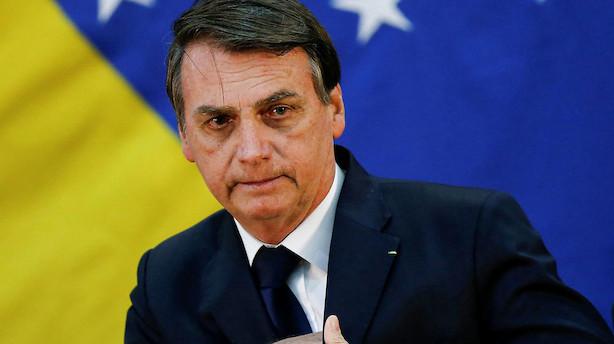 Brasiliens præsident tilbyder søn ambassadørjob i USA