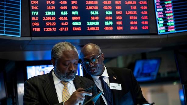 Aktietendens i USA: Negativ start i vente i nervøst og nyhedsfattigt marked