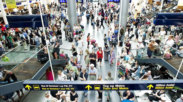 Rekordmange rejste igennem Københavns Lufthavn i august