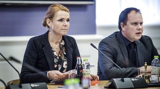 Blå partier vrede over Støjbergs stop for asylstramninger