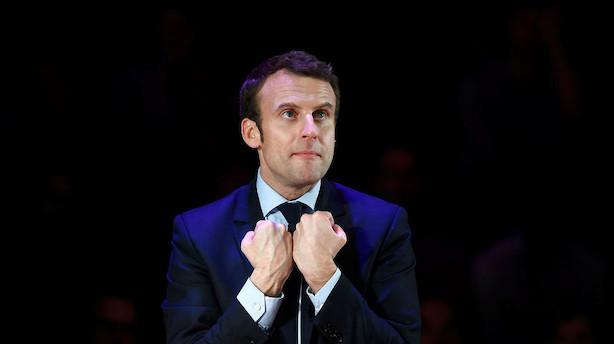 Måling spår præsidentpost til ung og moderat franskmand