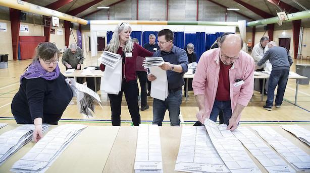 Optælling for kommunalvalget i gang: Nu tikker de første resultater ind
