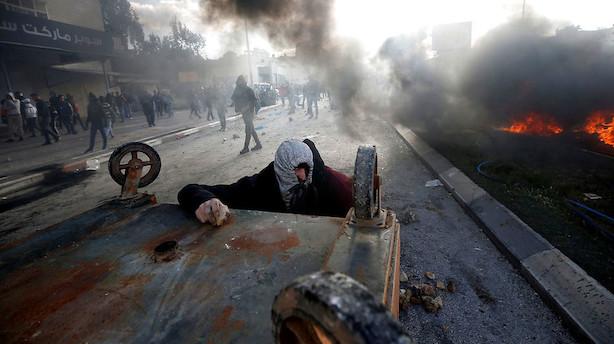 Palæstinensere gør oprør efter Trumps Jerusalem-tale
