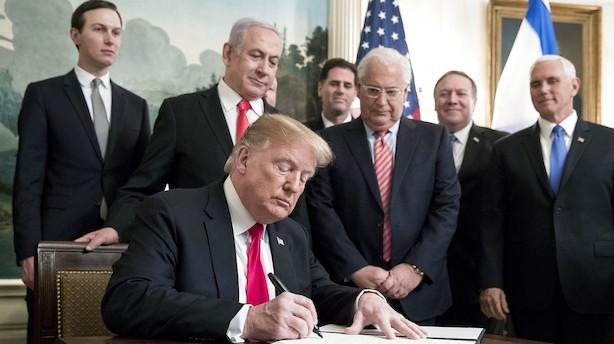 Arabiske lande trodser Trump: Golan er og bliver syrisk