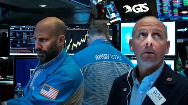 Morgenbriefing: Recessionsfrygt udløser markante aktiefald i USA
