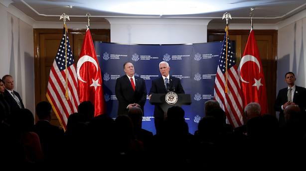 USA's vicepræsident: Tyrkiet siger ja til våbenhvile i Syrien