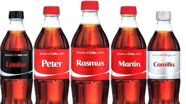 Navn på Coke-flasker stor succes