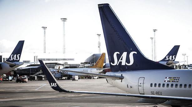 SAS-strejke fortsætter mandag: Nogle danskere bliver ramt