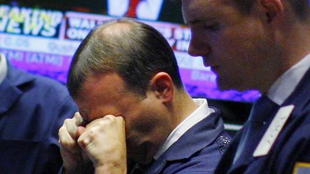 Tømmermændene ramte Wall Street