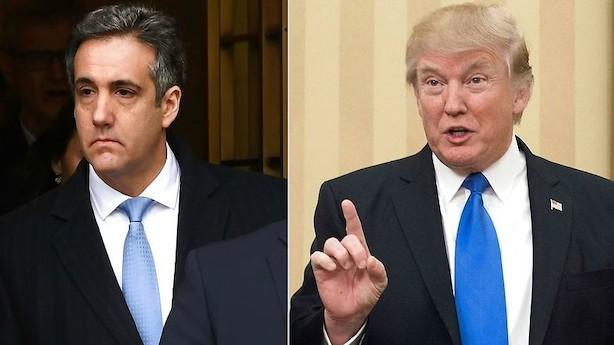 Cohen hævder at have manipuleret meningsmålinger for Trump