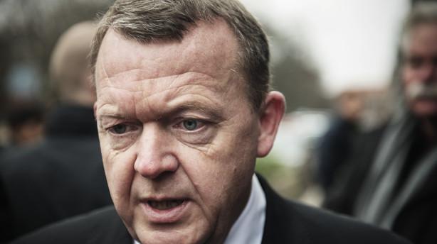 Lars Løkke kommer ud af flyverskjul: Holder pressemøde kl. 13.30
