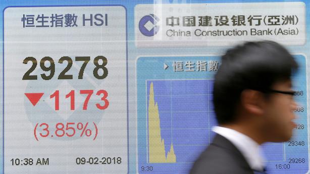 Asien: Blandede markeder - lidt op i Japan og noget ned i Kina