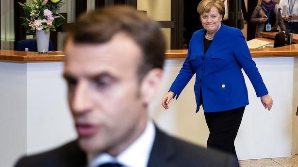 Analyse: Macron stod bag de første sprækker i EU's enighed om brexit