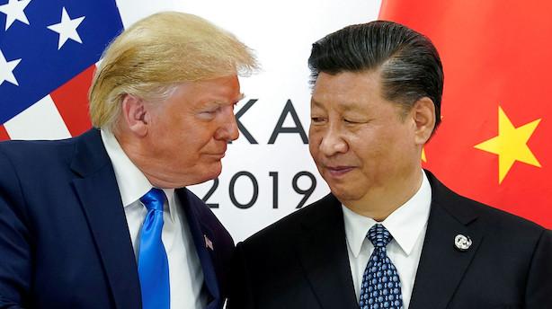 Kina og USA vil diskutere handelssituationen om to uger