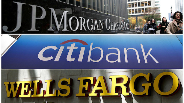JPMorgan og Citi belønnes for tal - Wells Fargo straffes