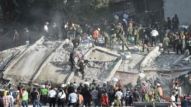 Mens du sov: Kraftigt jordskælv dræber i Mexico
