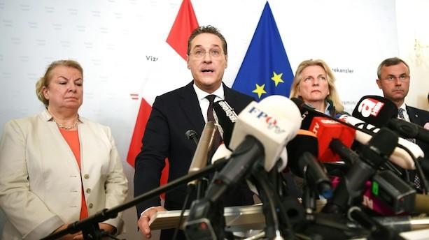 Østrigs vicekansler går af efter videoskandale