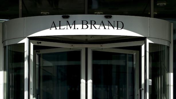 Alm. Brand Bank har haft besøg af Finanstilsynet: Resultatets sammensætning er ikke holdbar på lang sigt