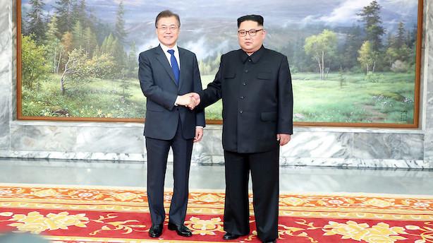 Nord- og Sydkoreas ledere mødes for at drøfte Trump-topmøde