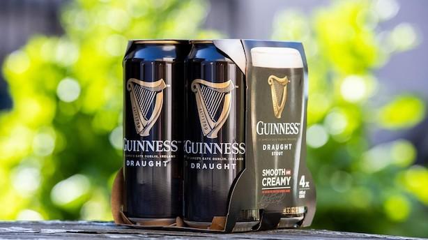 Guinness går i Carlsbergs fodspor: Fjerner plastikemballage