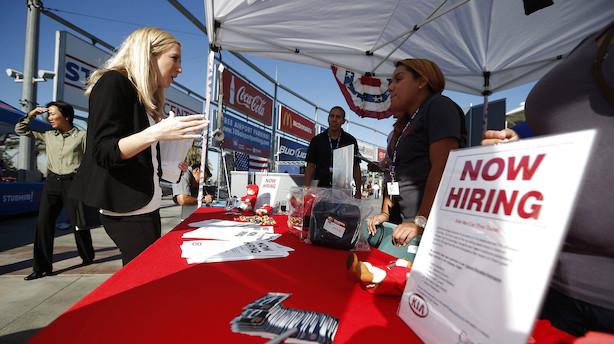 Bomstærk jobrapport i USA med 224.000 nye job: Rentepres på Powell aftager