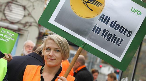 Lufthansa-ansatte strejker i Tyskland