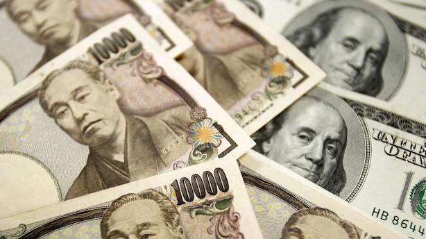 Valuta: Valutastilhed i japansk fravær