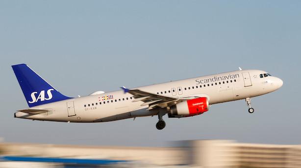 SAS aflyser over 200 flyafgange som følge af mulig konflikt
