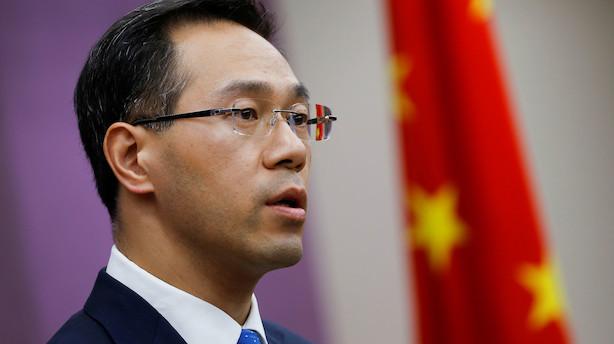 Kina: USA skal rette op før forhandlinger om handelsaftale kan fortsætte