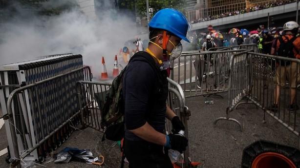 Aktier: Uroen fortsætter i Hongkong mens kinesiske aktier peger lidt op