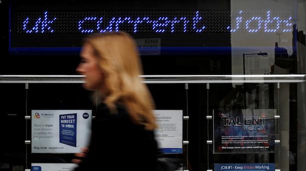 Britisk arbejdsmarked trodser nedgang