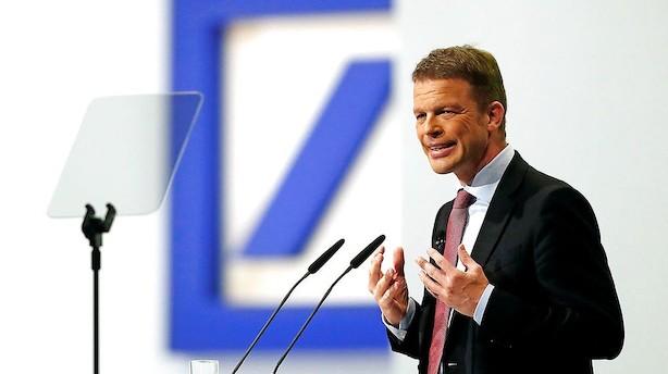 Deutsche Bank i uvejr i USA og sat på kritisk liste