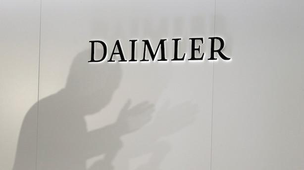 Aktieluk i Europa: Nedjustering sænkede Daimler i svagt negativt Europa