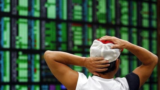 Aktier: Recessionsfrygt giver kursfald overalt i Asien