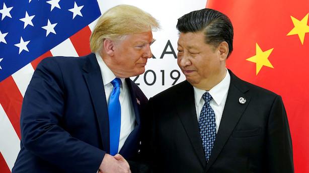 Medie: Kina åben for delvis handelsaftale med USA trods sortlistning