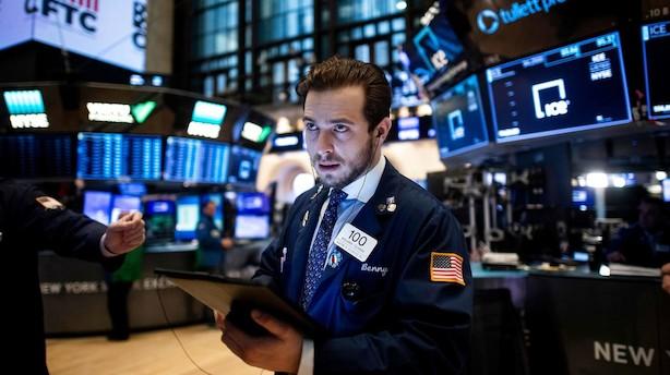 Aktieluk i USA: Faldt tilbage på handelsuro - godkendte bankregnskaber
