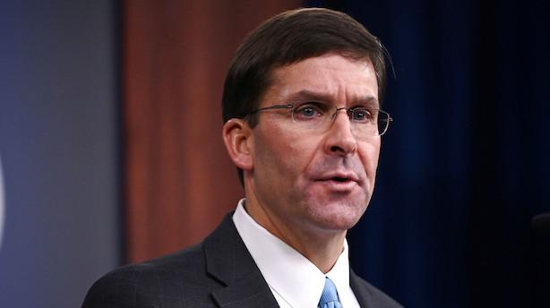Pentagons chef er i Afghanistan med Taliban-udspil
