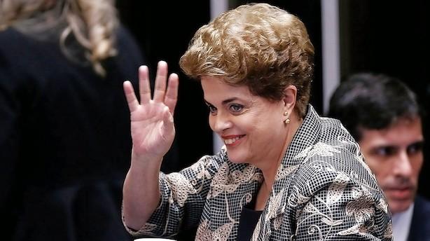 Senat afsætter brasiliansk præsident med klart flertal