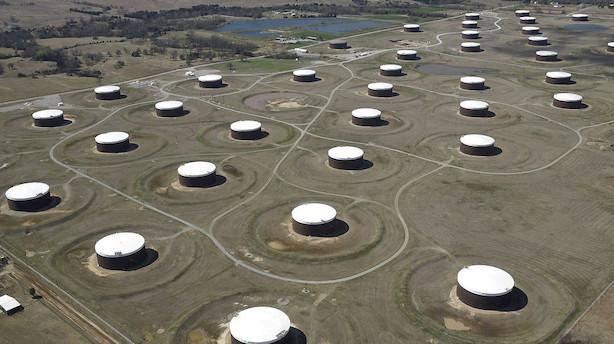 Amerikanske olielagre steg overraskende i sidste uge