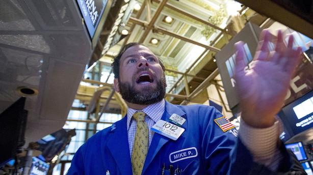 Hug til amerikanske aktier: Wall Street dykker efter rekordstigning