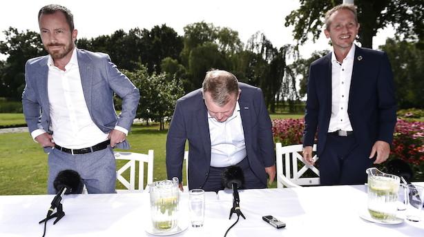 Venstres pressemøde er slut: Kristian Jensen fortryder kritik af SV-regering i pressen