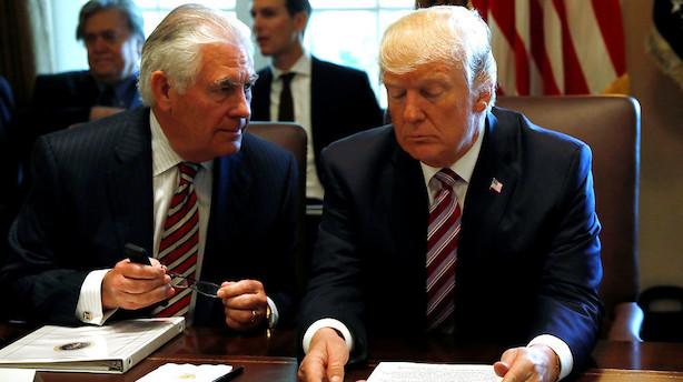USA: Trumps fyring af Tillerson og blokade af milliardhandel giver rystelser på Wall Street