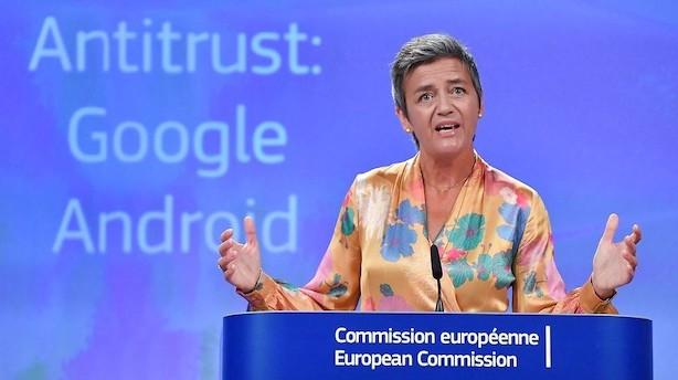 Vestager med ny kæmpebøde til Google: Skal betale 11 mia kr