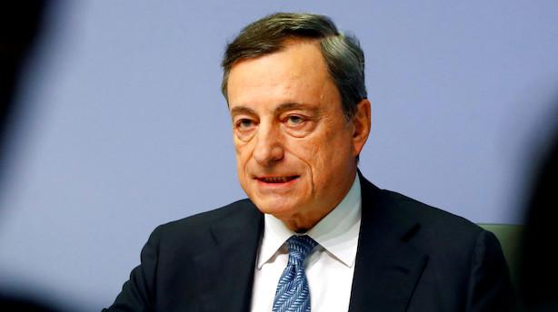 ECB-chef: Vi holder renten i ro indtil sommeren 2019