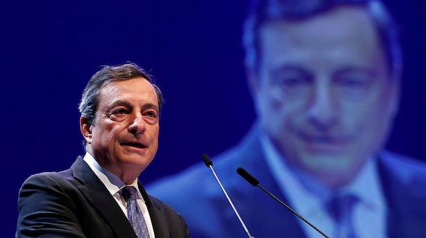 ECB-chef: Overbevist om at inflationen vil ramme bankens mål
