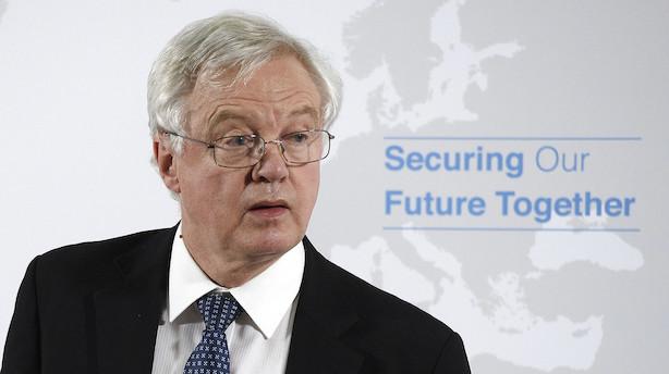 Storbritannien udpeger ny minister for brexit