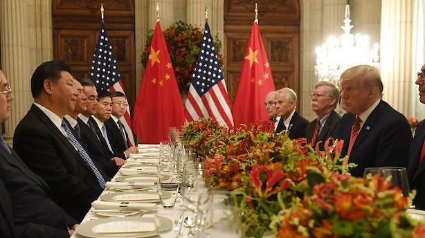 Handelssamtaler mellem USA og Kina rykker et niveau op