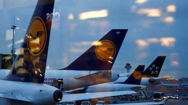 Aktier i Europa: Lufthansa trækker tysk eliteindeks mod grøn strøm