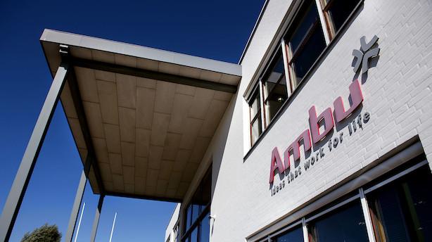 Markedet lukker: Ambu toppede C25 efter gode nyheder fra USA